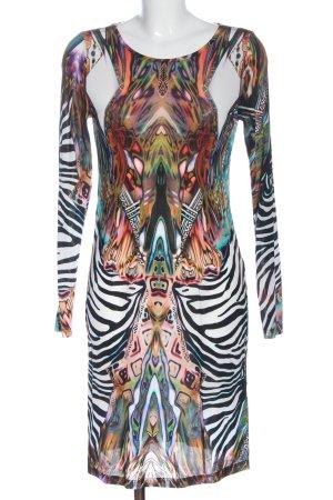 Ashley Brooke Robe à manches longues motif abstrait style extravagant
