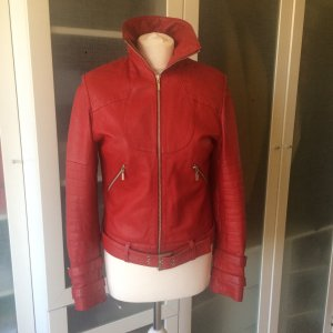 Ashley Brooke Leder Jacke tomatenrot Gr 36