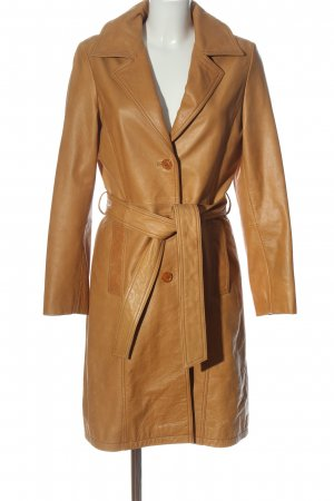 Ashley Brooke Leather Coat light orange casual look