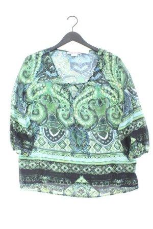 Ashley Brooke Oversize-Bluse Größe 42 mit Paisleymuster 3/4 Ärmel grün aus Polyester