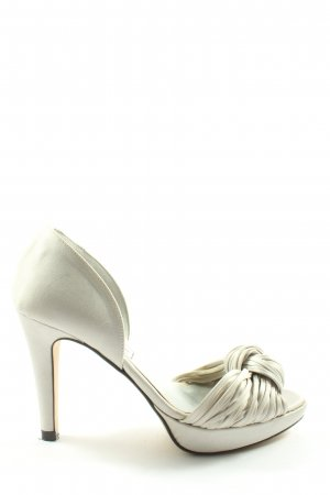 Ashley Brooke Peep Toe Pumps white elegant