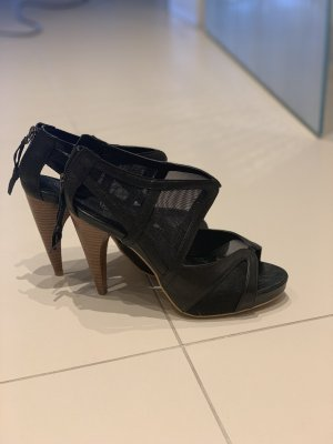Ashley Brooke Tacones con punta abierta negro