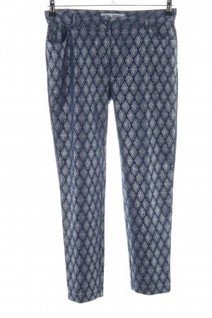 Ashley Brooke Drainpipe Trousers blue-silver-colored graphic pattern casual look