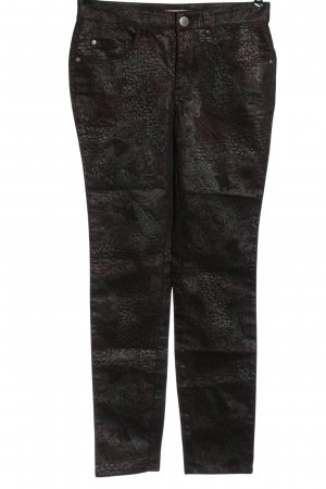 Ashley Brooke Drainpipe Trousers brown-silver-colored allover print casual look