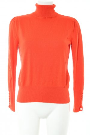 Ashley Brooke Rollkragenpullover rot Casual-Look