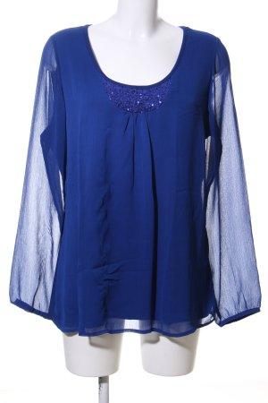 Ashley Brooke Blouse à enfiler bleu élégant