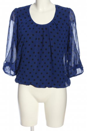 Ashley Brooke Blouse à enfiler bleu-noir imprimé allover style décontracté