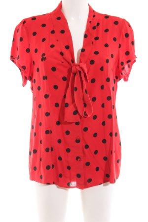 Ashley Brooke Blouse avec noeuds rouge-noir motif de tache style décontracté