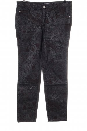 Ashley Brooke Slim Jeans black flower pattern casual look