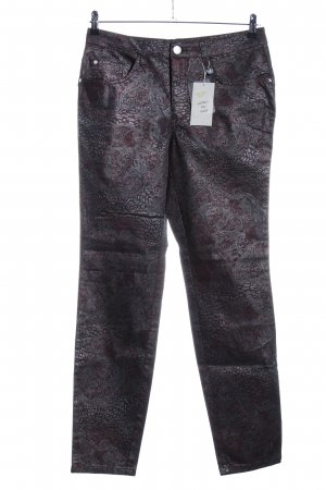 Ashley Brooke Slim jeans bruin-zilver abstract patroon casual uitstraling