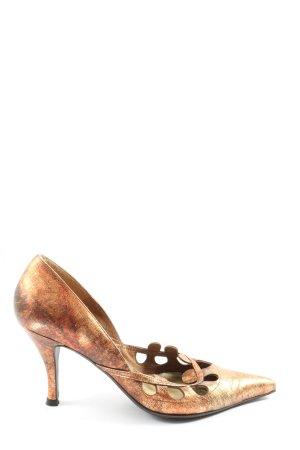 Ashley Brooke Spitse pumps brons elegant