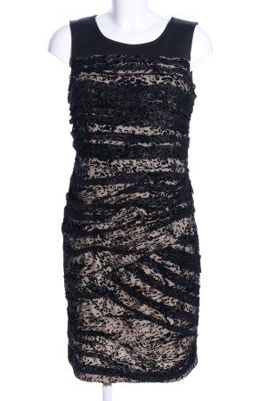 Ashley Brooke Spitzenkleid schwarz-creme Allover-Druck Elegant