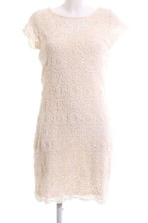 Ashley Brooke Robe en dentelle crème imprimé allover élégant