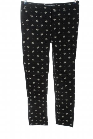 Ashley Brooke Jersey Pants black-white allover print casual look