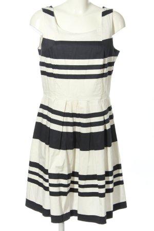 Ashley Brooke Trägerkleid weiß-schwarz Streifenmuster Casual-Look