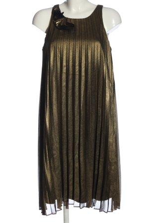 Ashley Brooke A-Linien Kleid goldfarben Casual-Look