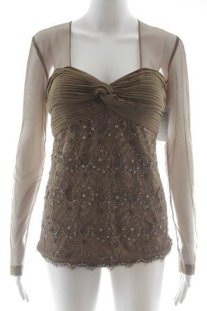 Ashley Brooke Transparenz-Bluse hellbraun Elegant