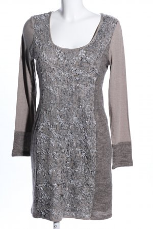 Ashley Brooke Tunic Dress light grey-brown flecked casual look