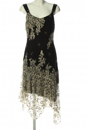 Ashley Brooke High Low Dress black-cream elegant