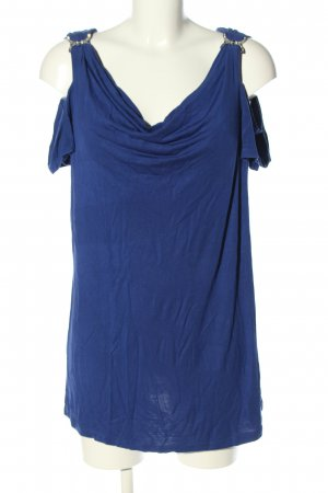 Ashley Brooke Koszulka z dekoltem woda niebieski W stylu biznesowym
