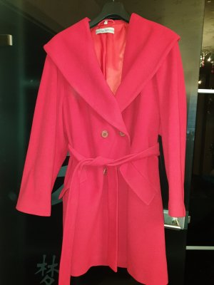 Ashley Brooke Abrigo de lana rojo-rojo oscuro