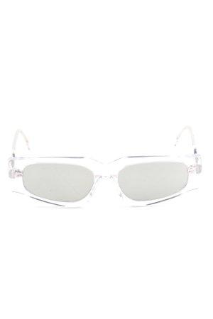 Ashley Williams Gafas de sol cuadradas blanco-gris claro look casual