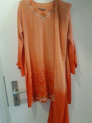 Koszulowa sukienka pomarańczowy