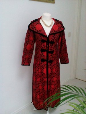 Frock Coat black-dark red