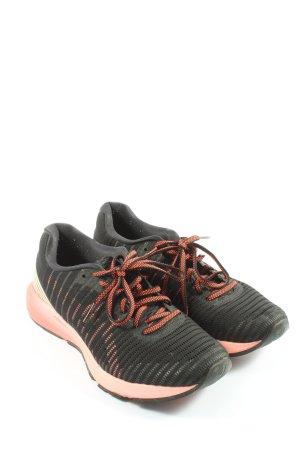 Asics Sneakresy na obcasie czarny-różowy W stylu casual