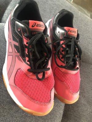 Asics Basket à lacet rose-noir