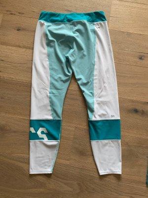 Asics Legging blanc-turquoise