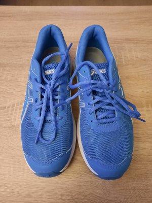 Asics Sneakers met veters wit-staalblauw