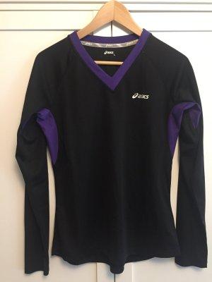 Asics T-shirt de sport noir-violet