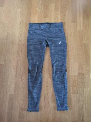 Asics Pantalon de sport noir-gris foncé polyester