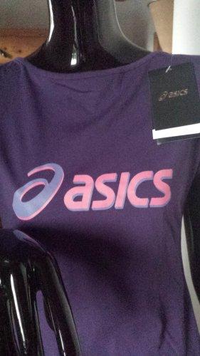 asics, neues Sportshirt in kräftigem violett, Gr.M