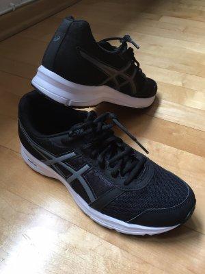 Asics Basket à lacet noir-blanc