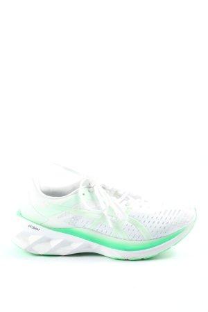 Asics Schnürsneaker weiß-grün sportlicher Stil