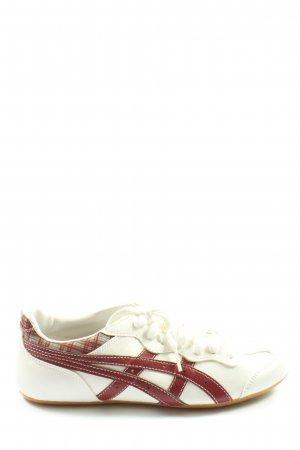 Asics Schnürsneaker creme-rot Casual-Look
