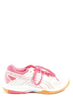 Asics Basket à lacet blanc-rose style athlétique