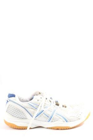 Asics Basket à lacet blanc-bleu style décontracté
