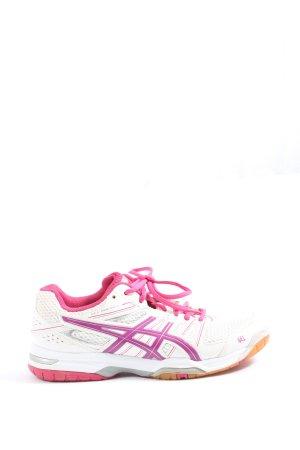 Asics Basket à lacet blanc-rose style décontracté