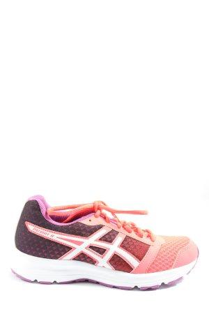 Asics Basket à lacet rose-noir style décontracté