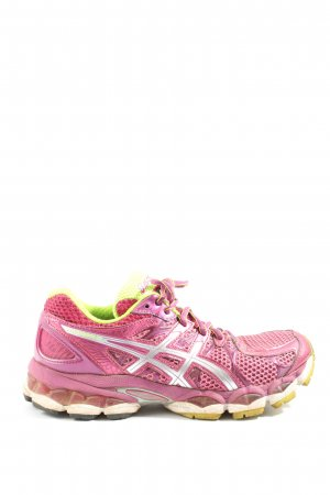 Asics Lace-Up Sneaker pink-silver-colored casual look