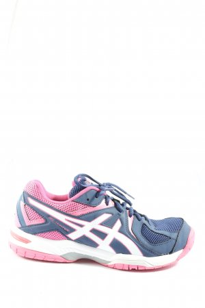 Asics Sznurowane trampki niebieski-różowy Sportowy styl