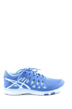 Asics Basket à lacet bleu style décontracté
