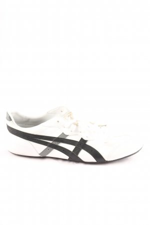 Asics Lace-Up Sneaker white-black striped pattern casual look