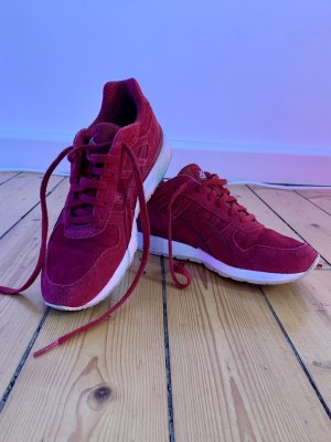 Asics Lace-Up Sneaker dark red-white