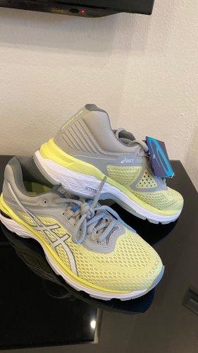 Asics Sneakers met veters lichtgrijs-sleutelbloem