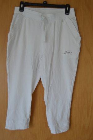 asics Sporthose, weiß, Baumwolle, 1x getragen, Gr. M, 3/4 Länge