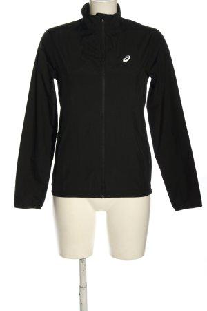 Asics Veste de sport noir-blanc imprimé avec thème style décontracté